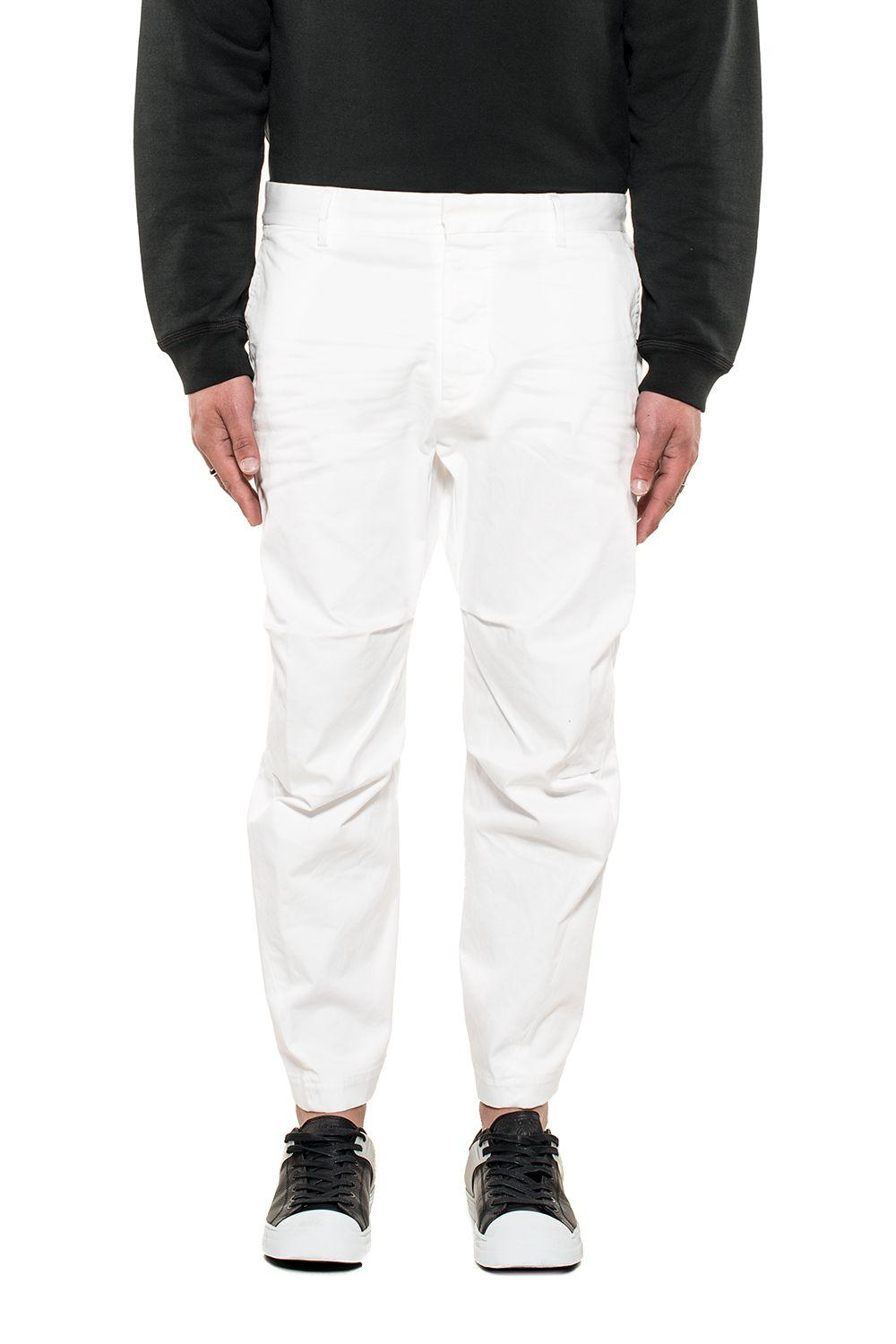 Dsquared2 White Gabardine Cropped Trousers
