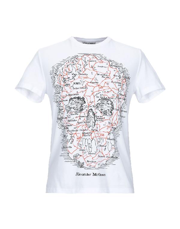 Alexander Mcqueen Skull-Print Cotton-Jersey T-Shirt In White