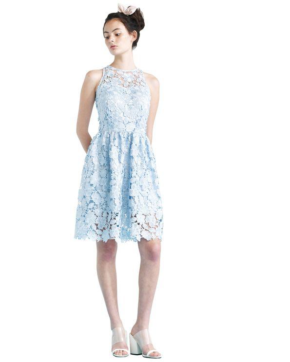 Ukulele Poppy Dress In Blue