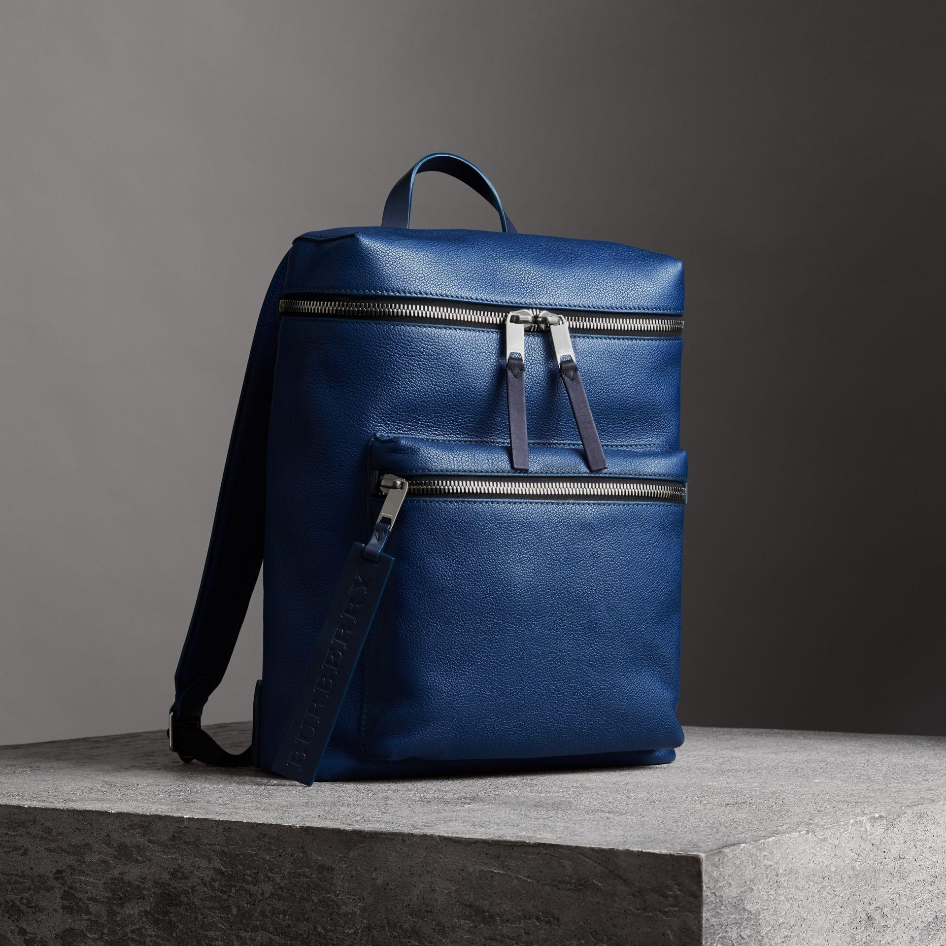 6af4aeb4e2dc Burberry Zip-Top Leather Backpack In Blue