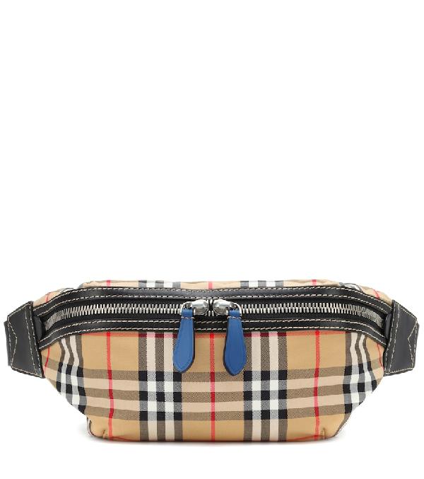 bf4a15b35a78 Burberry Men s Sonny Check Crossbody Belt Bag Fanny Pack In Beige ...