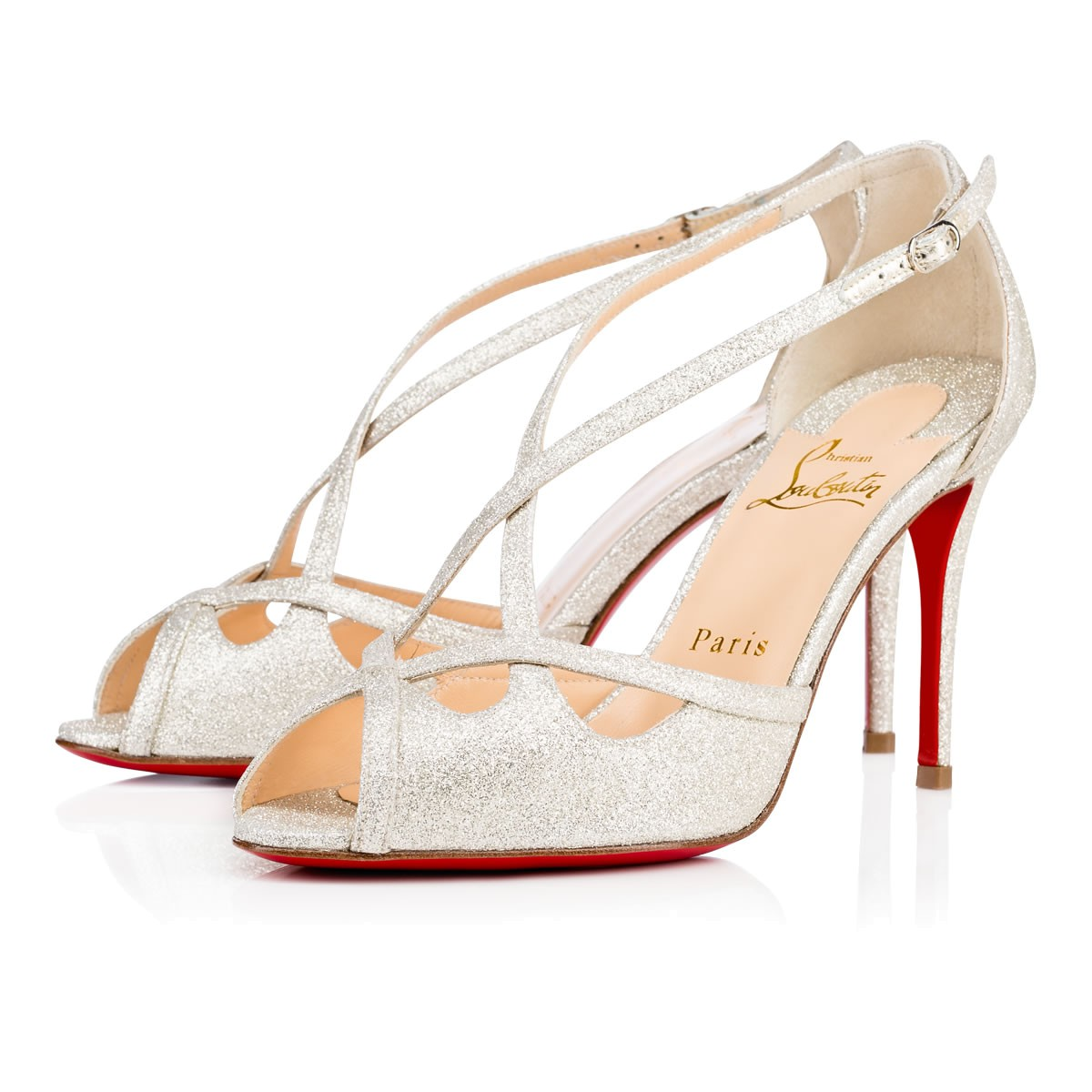 1f31b77c014 Madalena Glitter Mini 85 Ivory Glitter - Women Shoes - Christian Louboutin