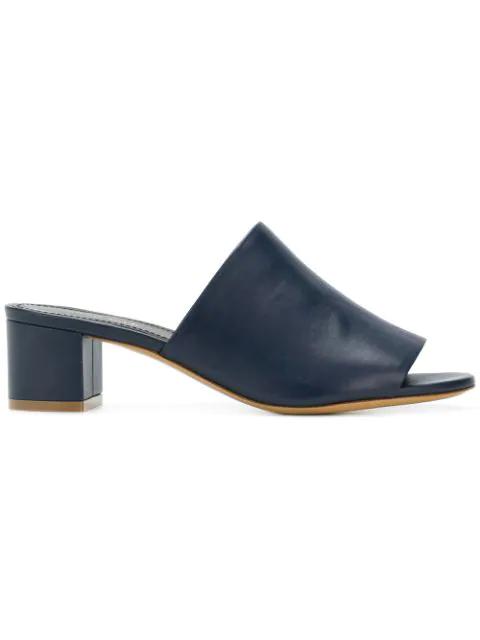 Mansur Gavriel 40Mm Leather Sandals In Blue