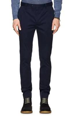 John Varvatos Stretch-Cotton Trousers - Navy