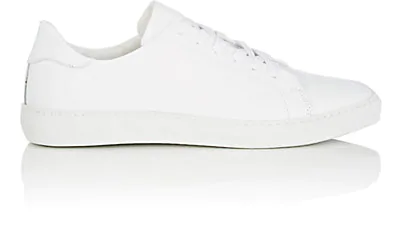 Barneys New York Leather Sneakers In White