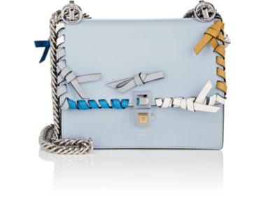 Fendi Kan I Small Leather Shoulder Bag - Lt. Blue