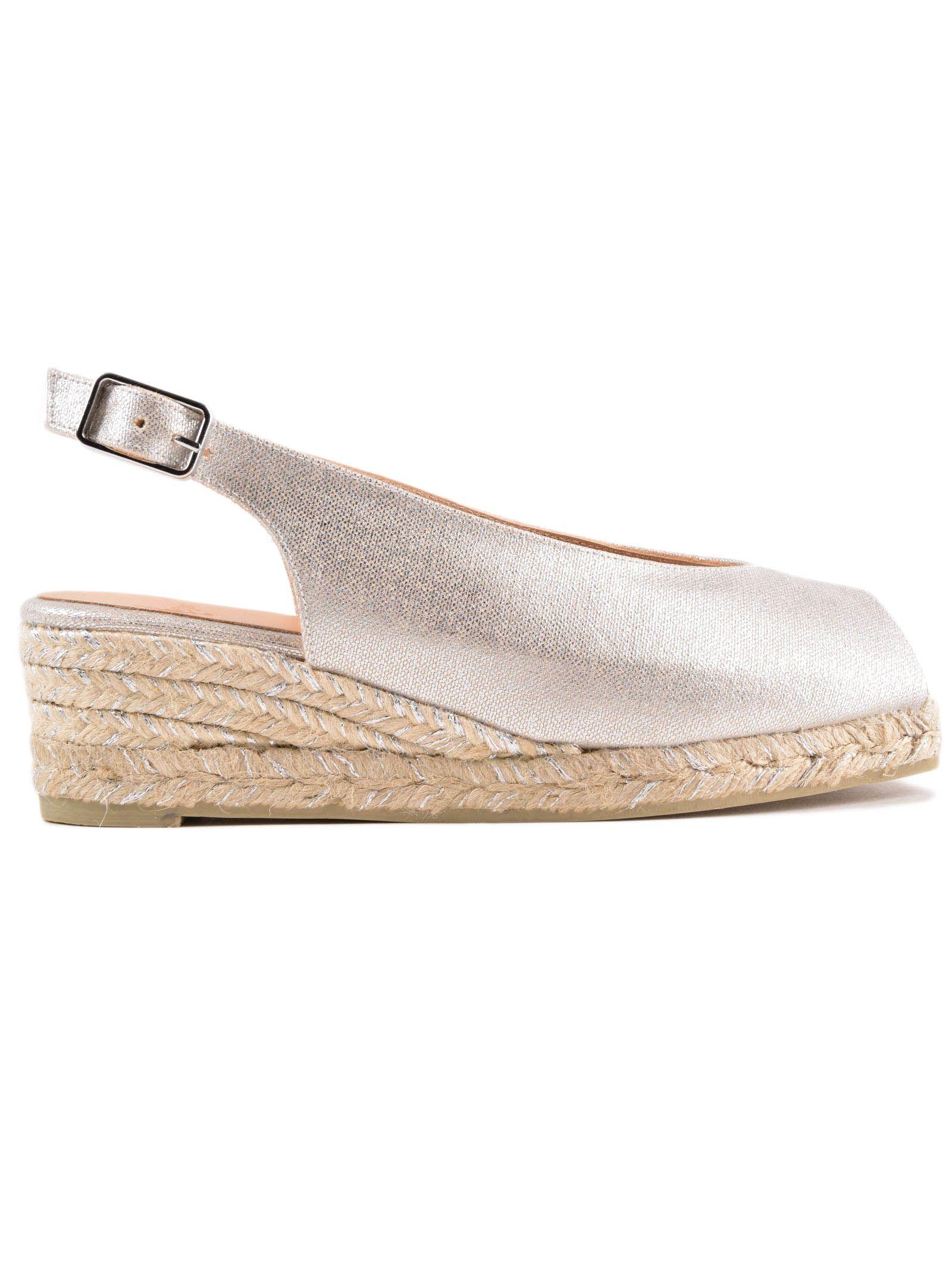 316d781c3 CastaÑEr Peep Toe Slingback Sandals In Plata   ModeSens