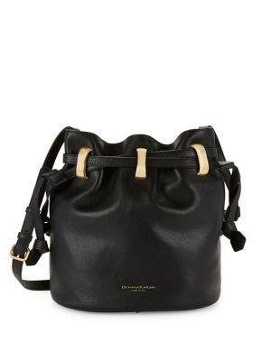 cebe7fbb37 Shoulder Bags. First seen in May 2018. Donna Karan Alice Large Leather  Bucket Bag In Black/Gold