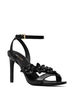 c0cf9c339 Michael Michael Kors Tricia High Floral Sandal In Black