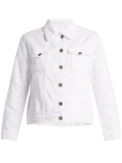 Frame - Rigid Re Release Denim Jacket - Womens - White