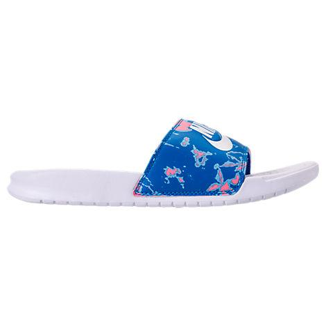 brand new 865c2 2f67f Treat your feet in style with the comfortable, easygoing Women s Nike  Benassi JDI Print Slide Sandals. One piece synthetic upper Slip on design  Phylon foam ...