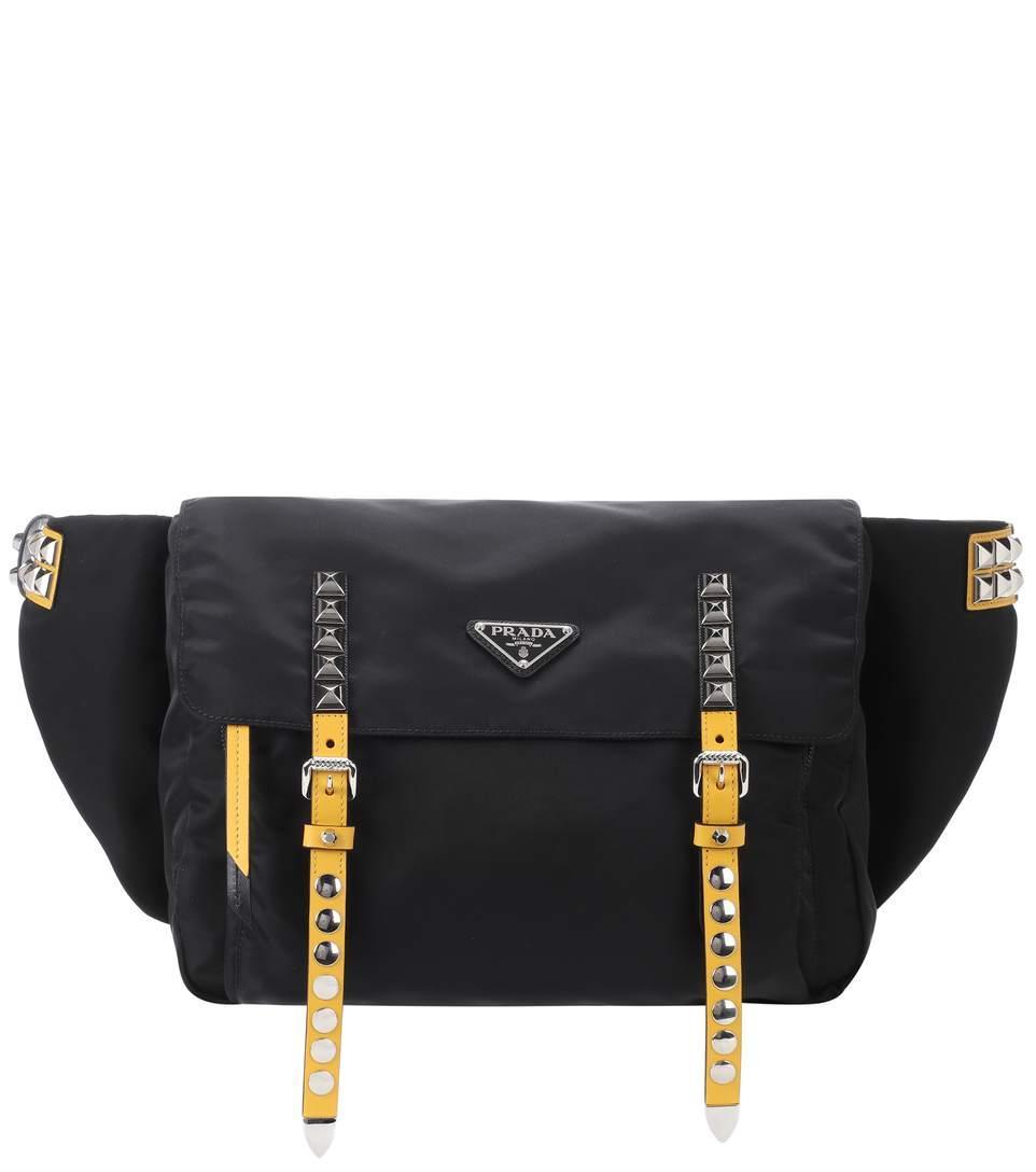 61093d8dea0227 Prada Embellished Belt Bag In Black | ModeSens