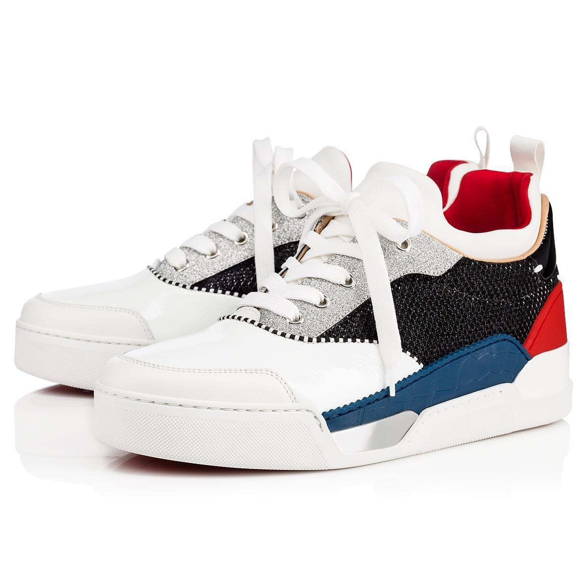 dc3d8675bd0c Christian Louboutin Aurelien Calf Glitter Diams Sneakers In Version ...