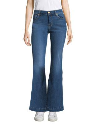 7 For All Mankind Dojo Faded Flared Jeans In Medium Melrose