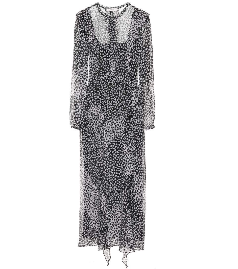 Dorothee Schumacher Printed Silk Dress In Black