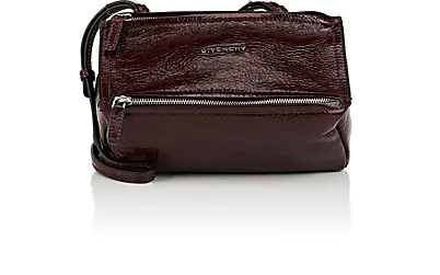 Givenchy Pandora Pepe Mini Patent Leather Messenger Bag - Aubergine