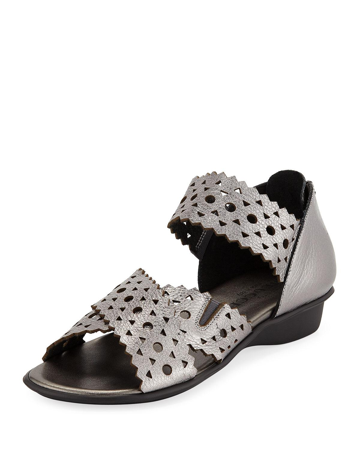 a2b97802525 Sesto Meucci Evie Perforated Comfort Sandal In Acciaio