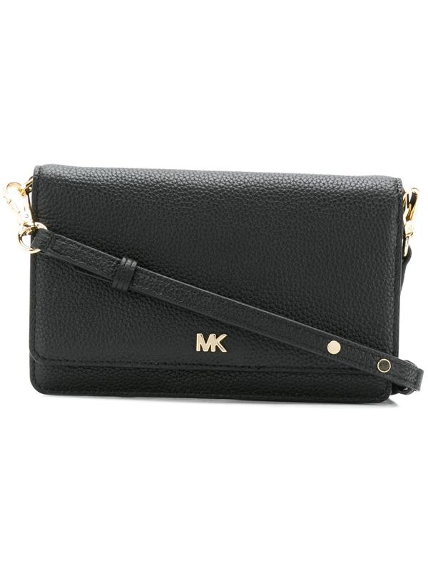b94ab0733ce42a Michael Michael Kors Leather Crossbody Phone Wallet - Black | ModeSens