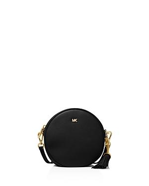 2795274f99a0 Michael Michael Kors Pebbled Leather Canteen Crossbody In Black ...