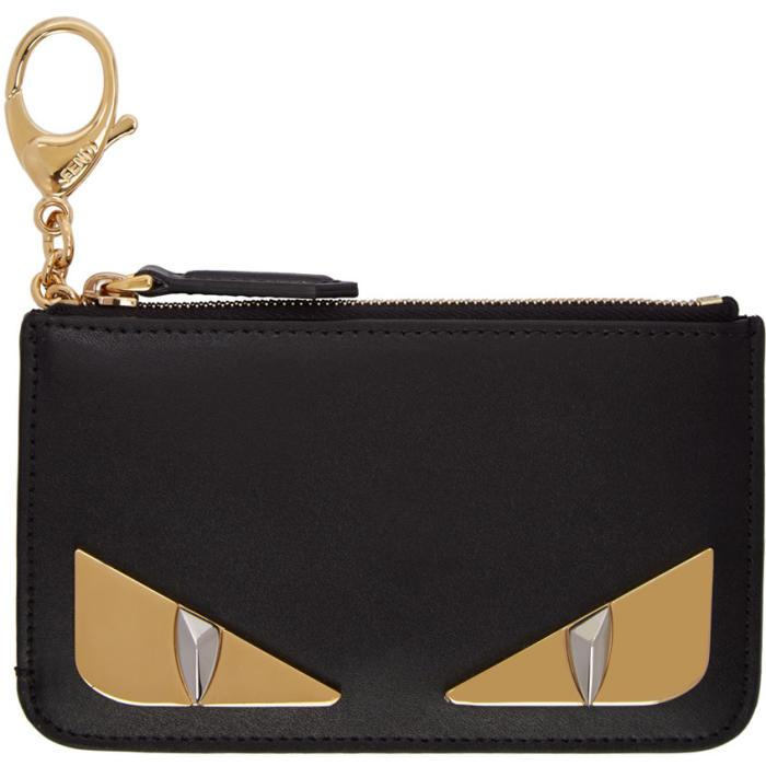 5750c7cb67e Fendi Black Metal Bag Bugs Coin Pouch In F0Kur Nero | ModeSens