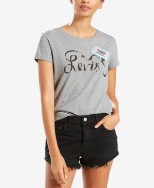 Levi's Cotton Logo Graphic T-Shirt In Tape Smokestack Heather