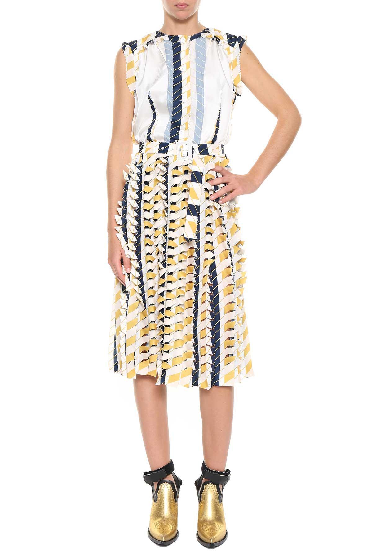 Maison Margiela Printed Midi Dress In Multicolor