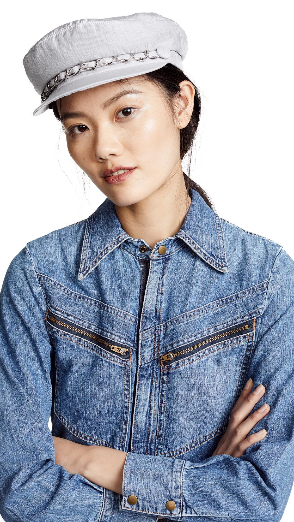 68ff5df50318a Eugenia Kim Marina Newsboy Hat In Ice Grey