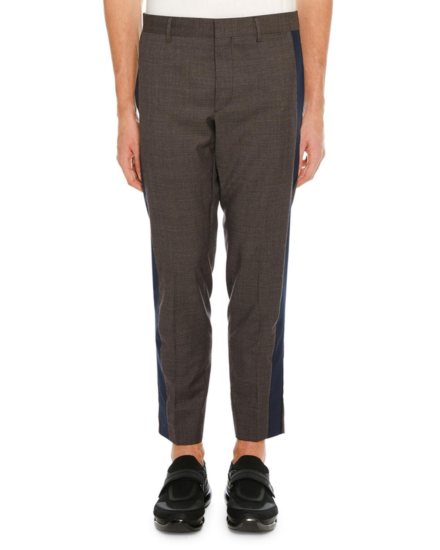55bd4503f76 Prada Men S Side-Stripe Ankle Pants