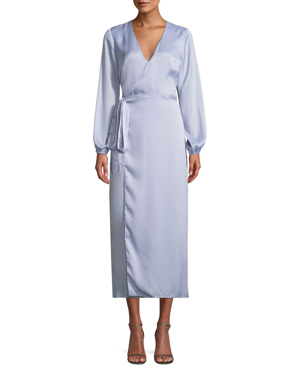 da80fb56f1c The Jetset Diaries Opal Long-Sleeve Midi Wrap Dress In Lavender ...