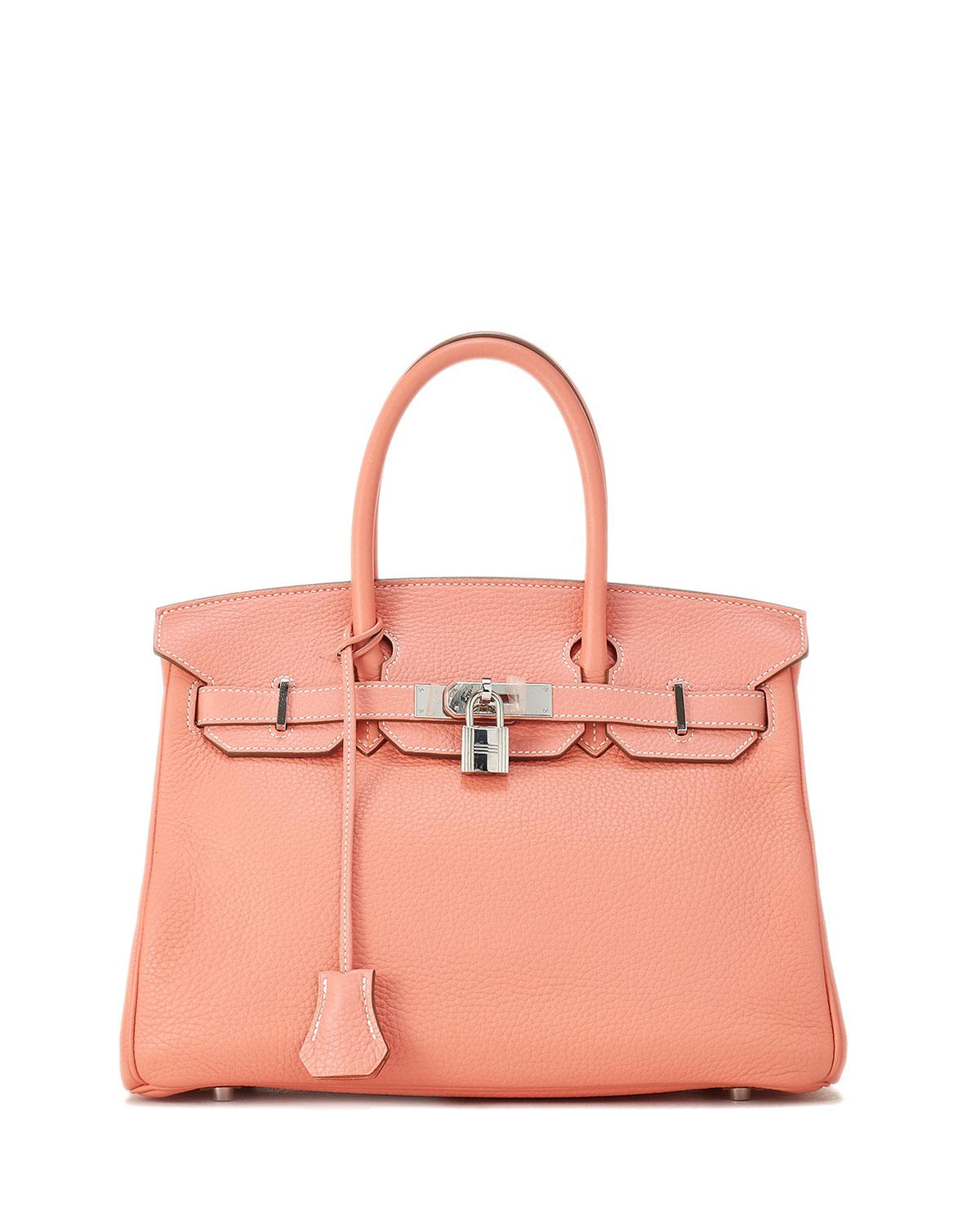 Hermes Birkin 30 Calfskin Satchel Bag In Orange