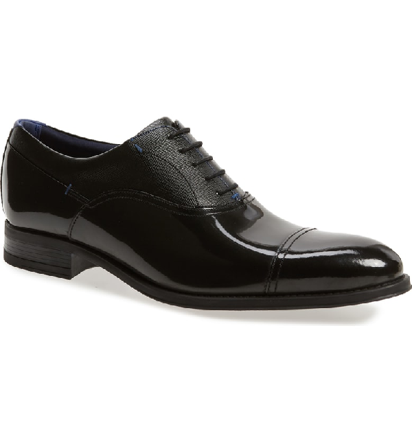 53f6e4bd7ffe Ted Baker Karneyh Hi Shine Leather Oxford Shoes - Black