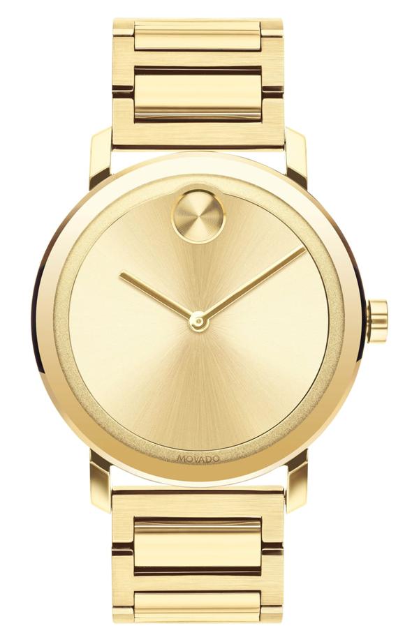 Movado Bold Evolution Bracelet Watch, 40mm In Gold