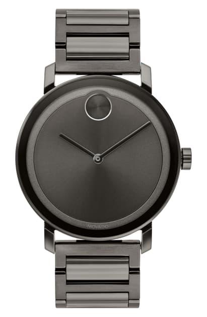 Movado Bold Evolution Bracelet Watch, 40mm In Gunmetal