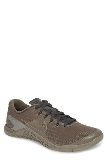 828924fd6 Nike Metcon 4 Viking Quest Training Shoe In Ridgerock/ Pewter/ Anthracite