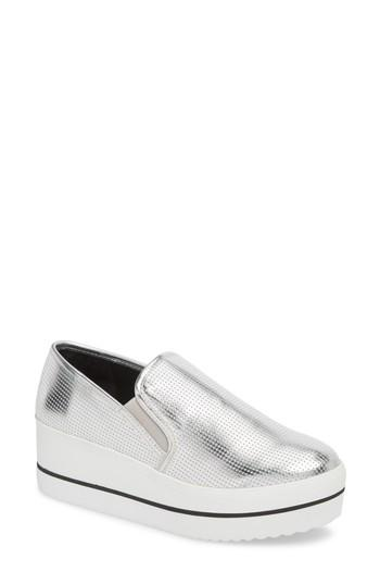 8108c7cbf76 Breezy perforations bring texture and airy comfort to a slip-on sneaker  kicked up on a chunky platform wedge. Style Name  Steve Madden Becca  Slip-On Sneaker ...