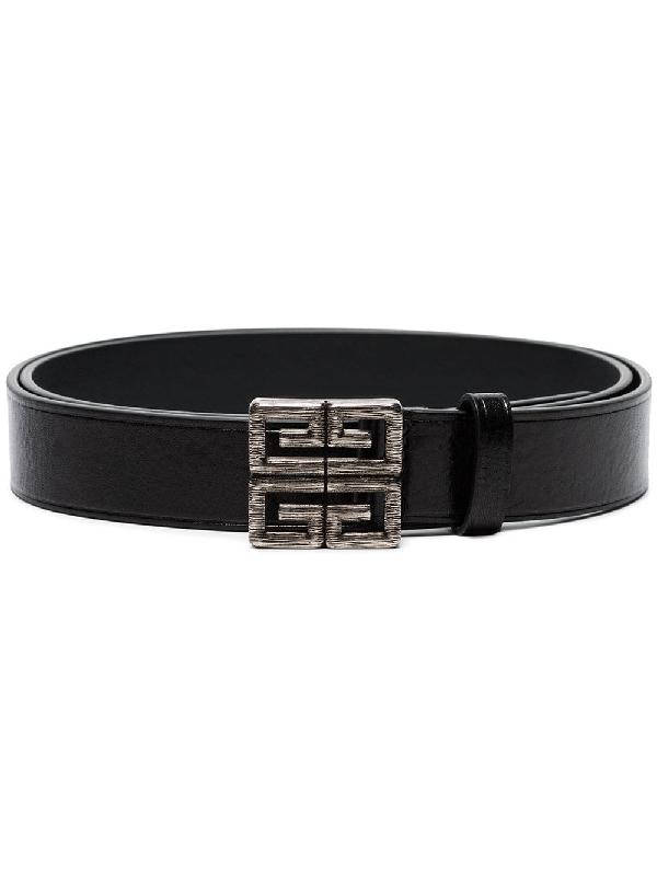 Givenchy - 4G Logo Buckle Leather Belt - Mens - Black