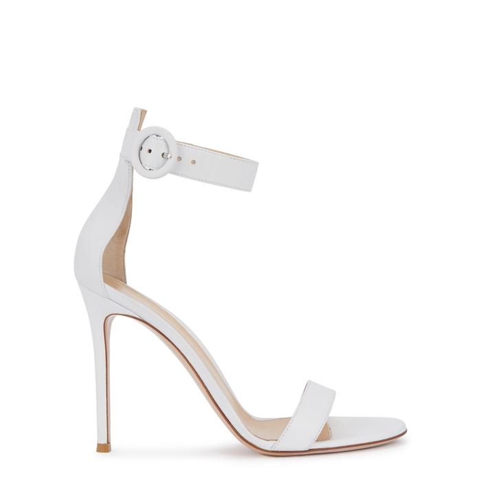 5b71cb65ff0e Gianvito Rossi Portofino 105 White Leather Sandals