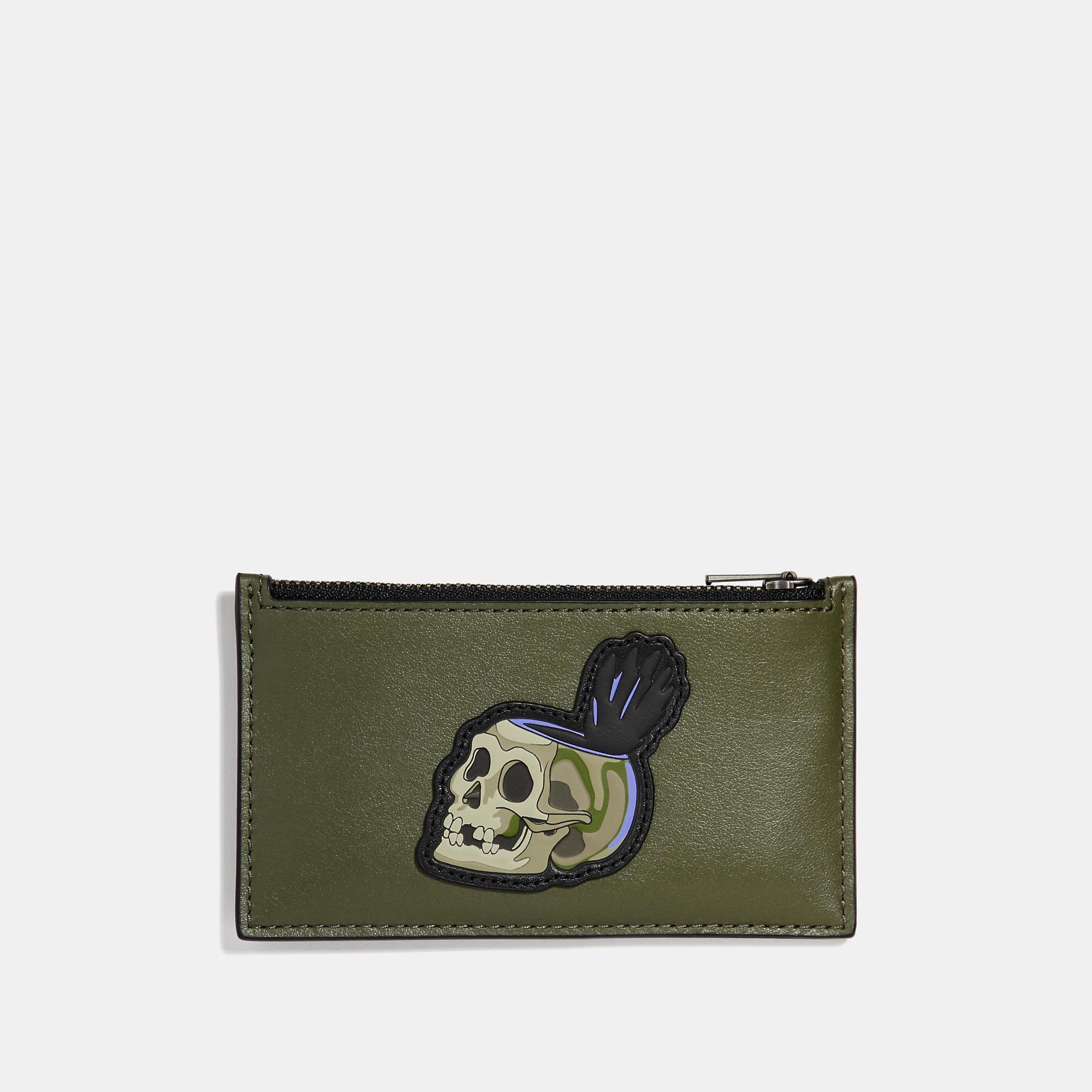2f164fd7 Coach Disney X Zip Card Case With Skull - Men's in Army Green
