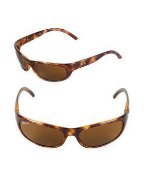 9e78fb9a72 Ray Ban 60Mm Polarized Oval Wrap Sunglasses In Havana