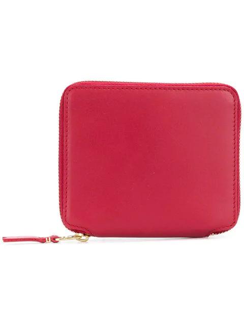 Comme Des GarÇOns Zip Around Wallet In Red