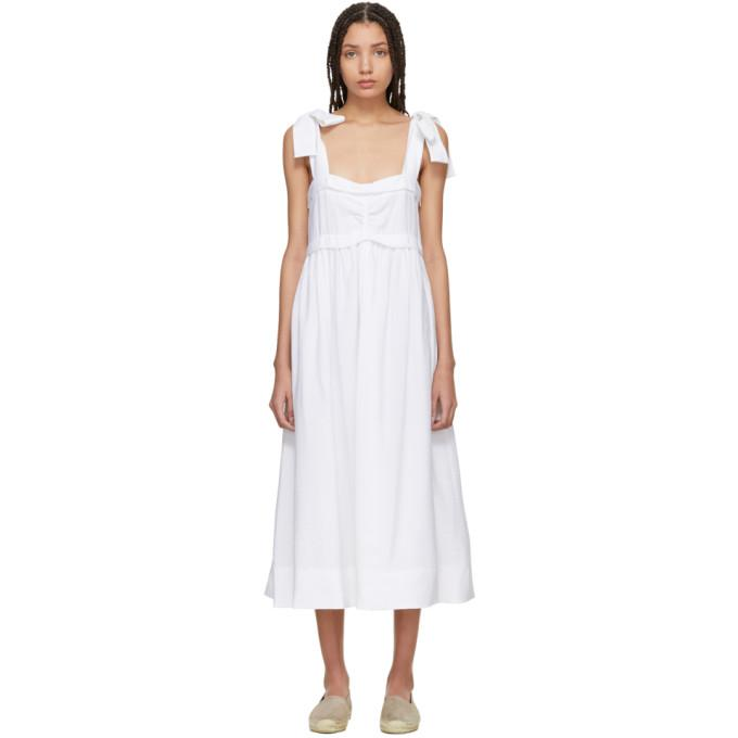 4ea27b780e See By ChloÉ See By Chloe White Tie Shoulder Dress In 101 White ...