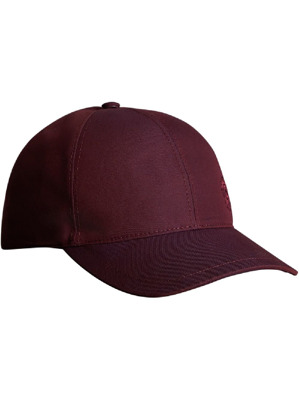 Burberry Embroidered Archive Logo Baseball Cap In Red