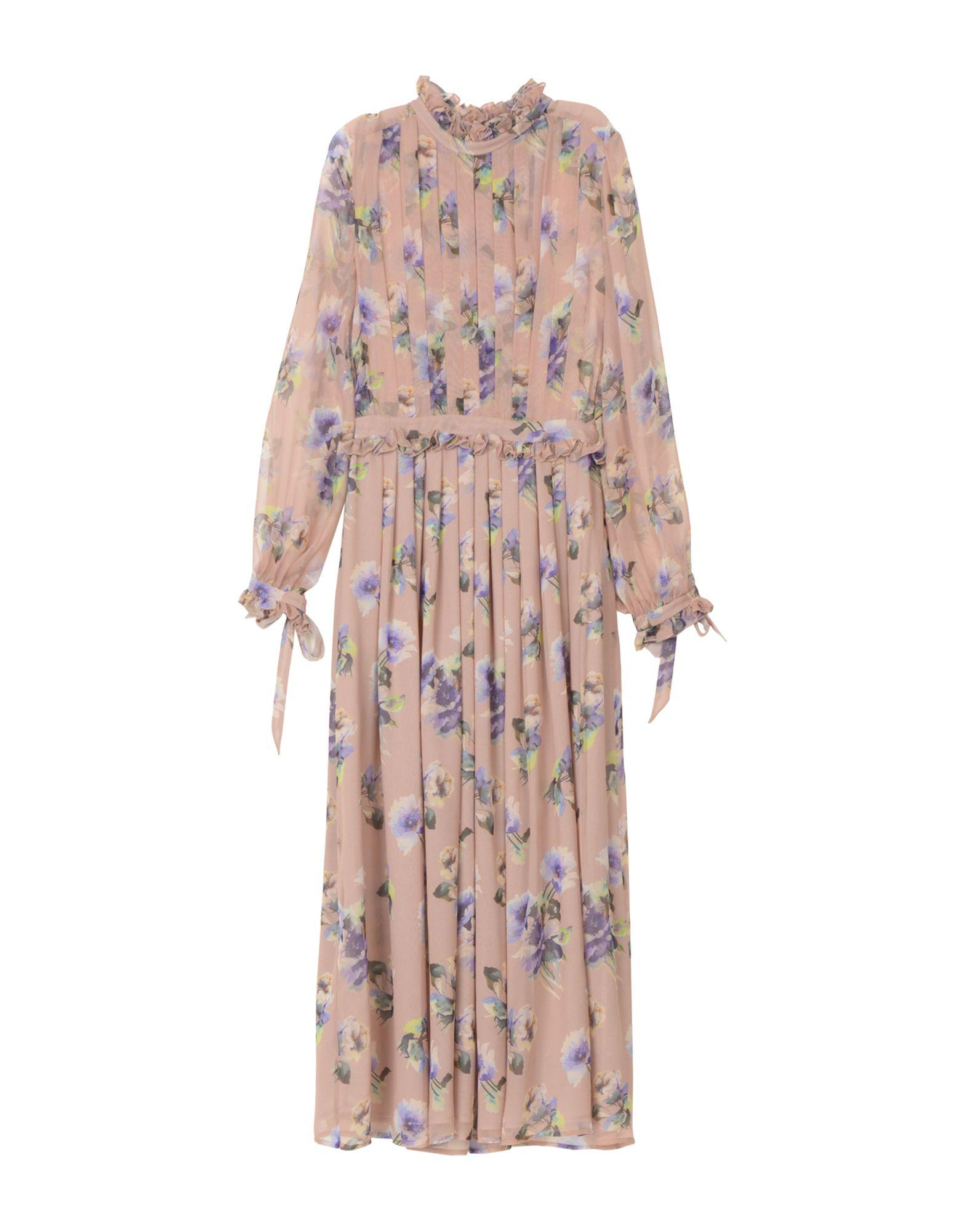 Msgm Long Dresses In Pastel Pink
