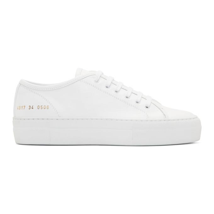 Common Projects Woman By  White Tournament Low Super Sneakers In 0506 White