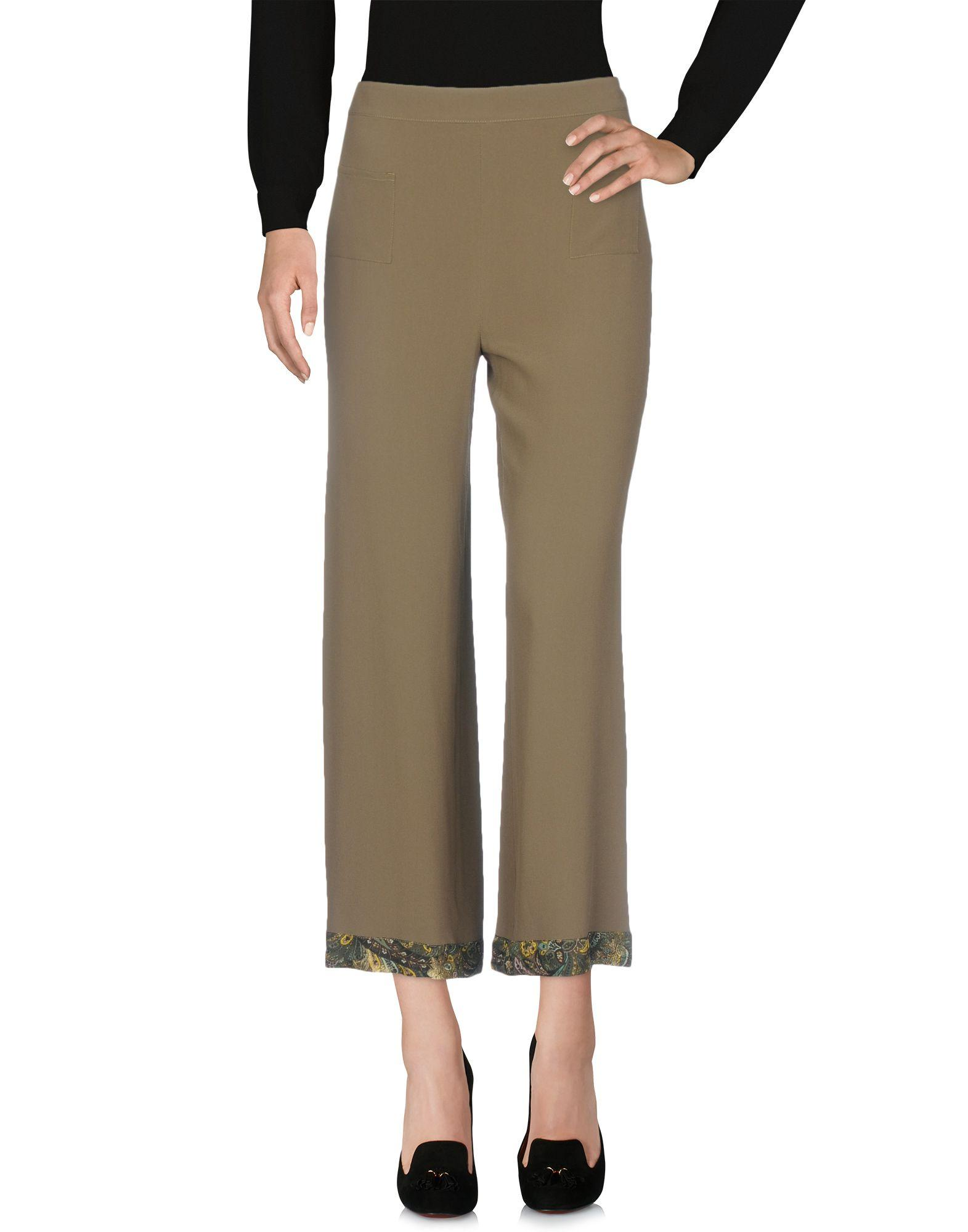 Etro Casual Pants In Military Green