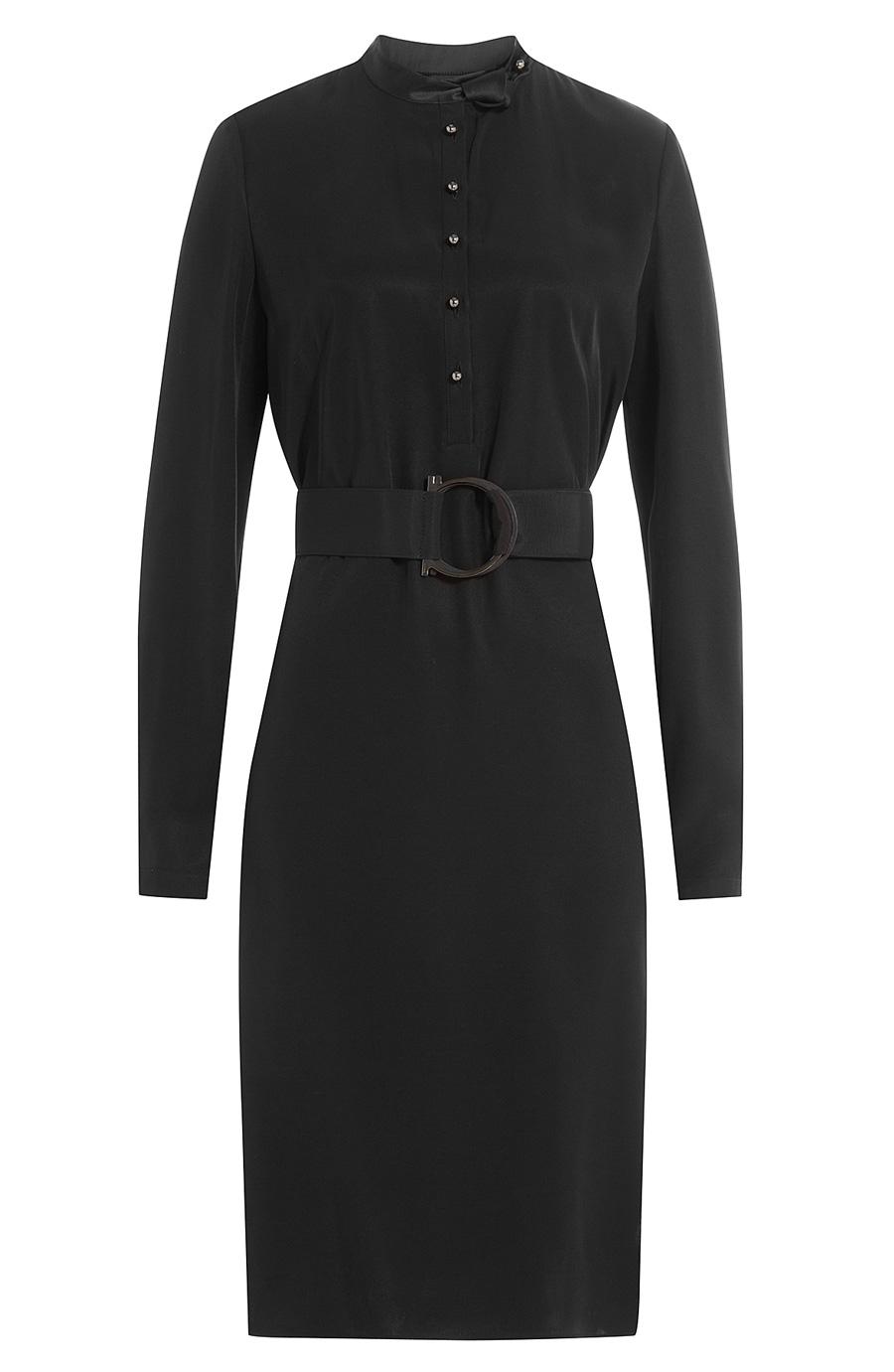 Salvatore Ferragamo Belted Dress In Black