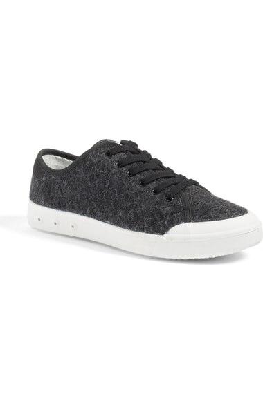 Rag & Bone Woman Standard Issue Felted Wool Sneakers Black In Black Wool