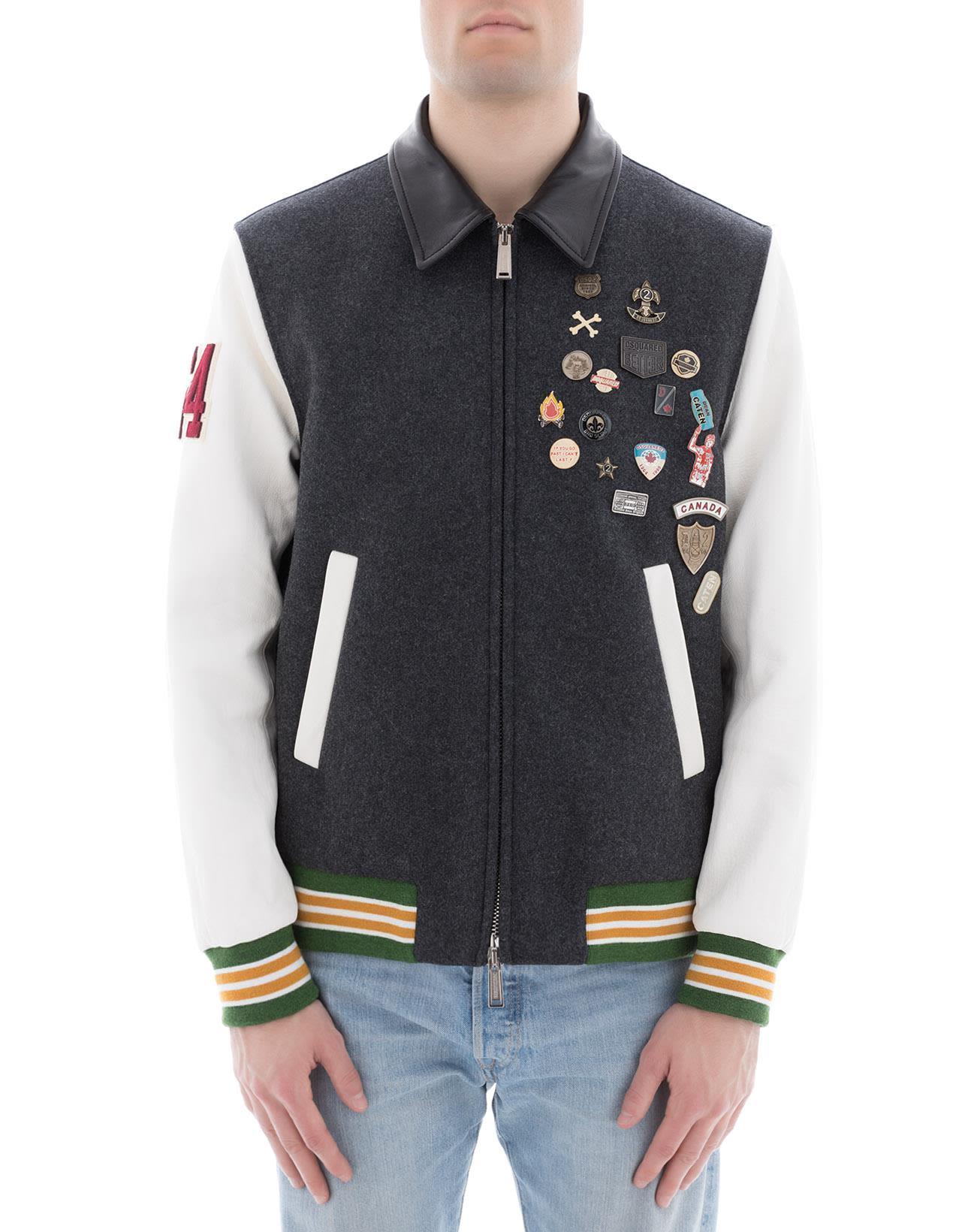 Dsquared2 Grey Wool Jacket