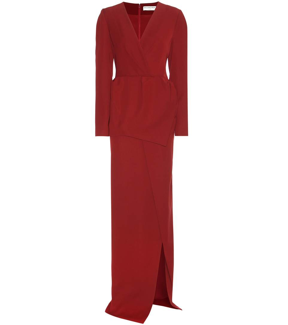 Balenciaga Floor-length Dress In Red