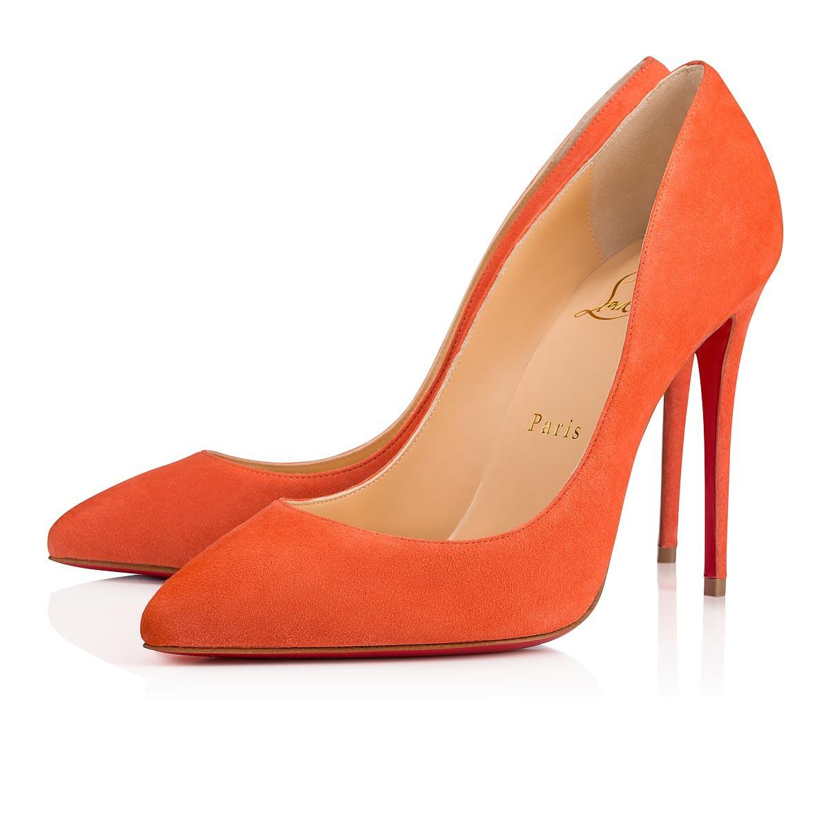 306e9a27a4ec ... of Christian Louboutin s Pigalle Follies pumps are the cabaret spirit  incarnate with a sensual and flowing cut above a 100mm heel. The peachy-pink  suede ...